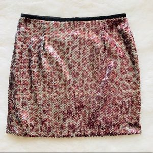 NANETTE LEPORE Sequin Mini Skirt Sz 4